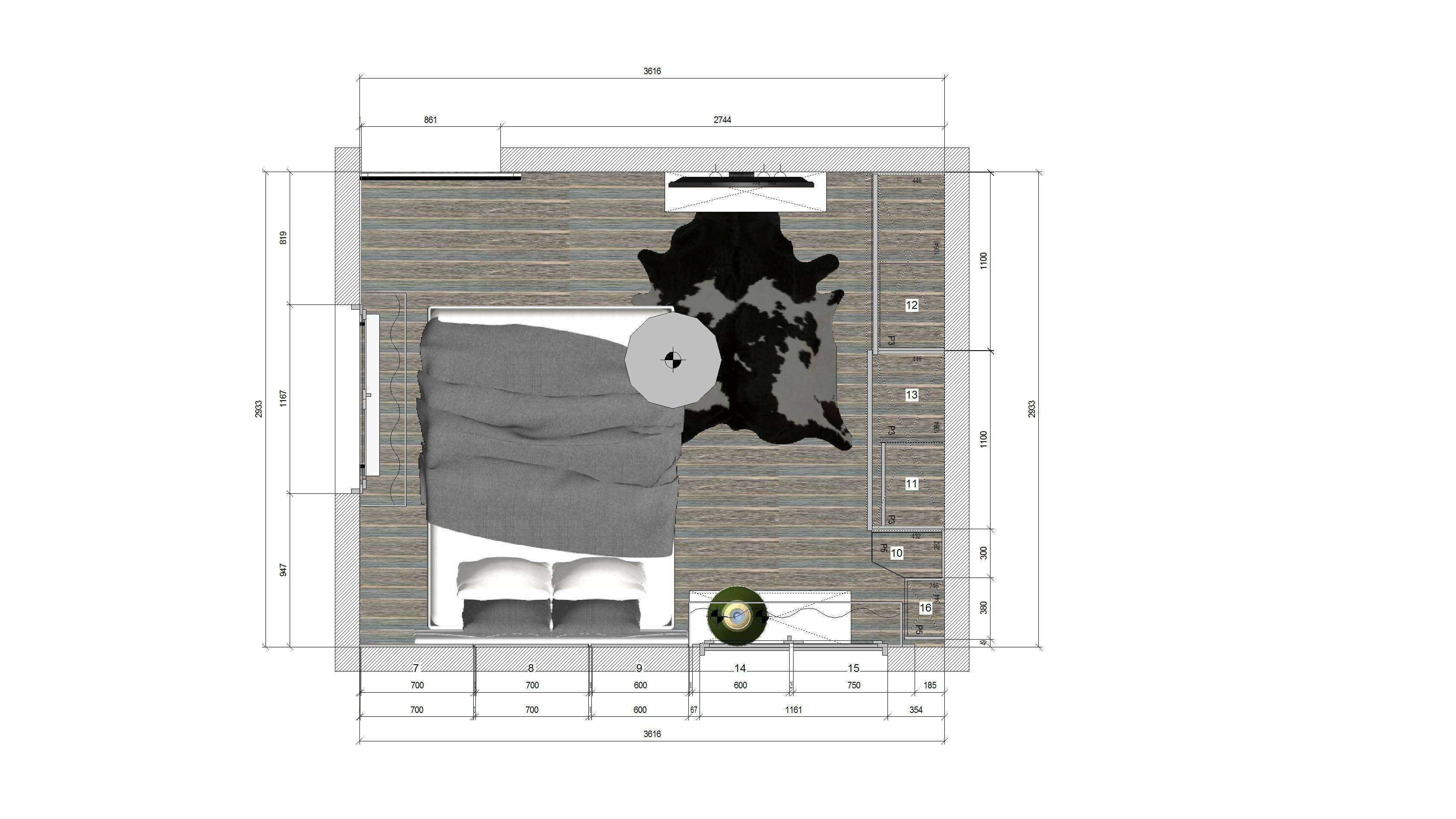 plan design interior dormitor