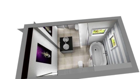 Design interior baie  fetita
