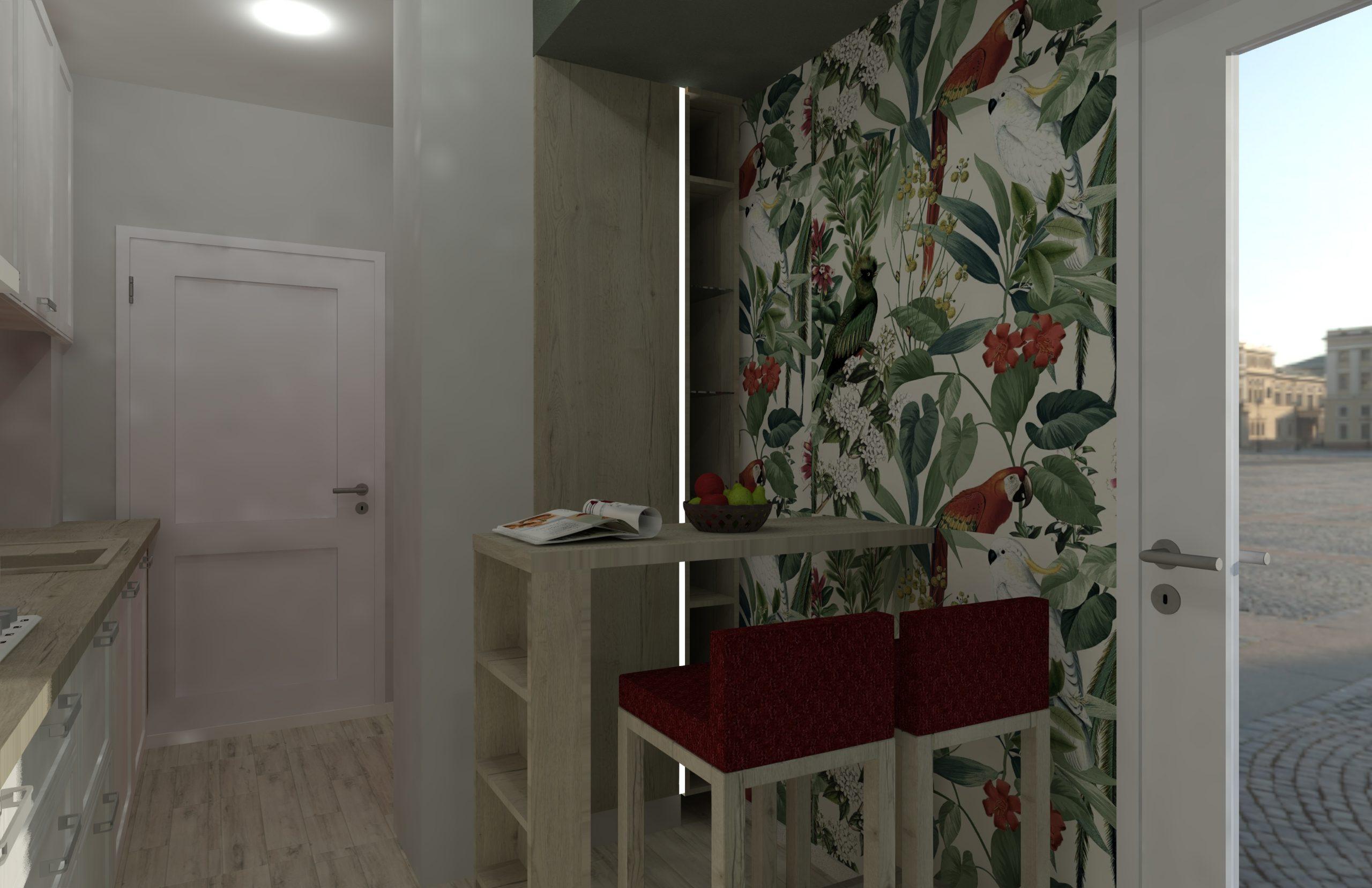 Proiect design mobila bucatarie retro
