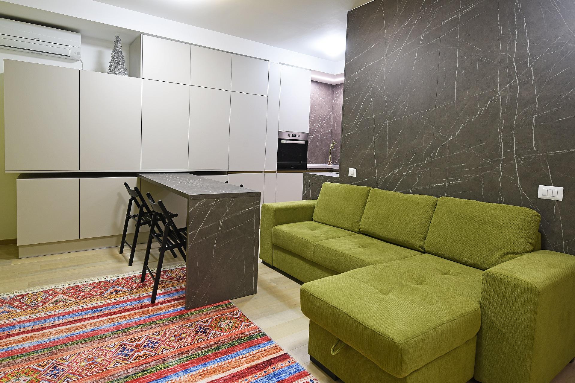Open space bucatarie cu living Antonio